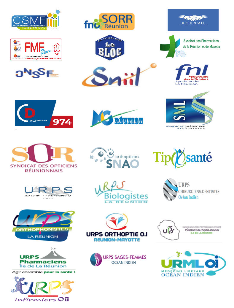Photo des logos des organisations syndicales